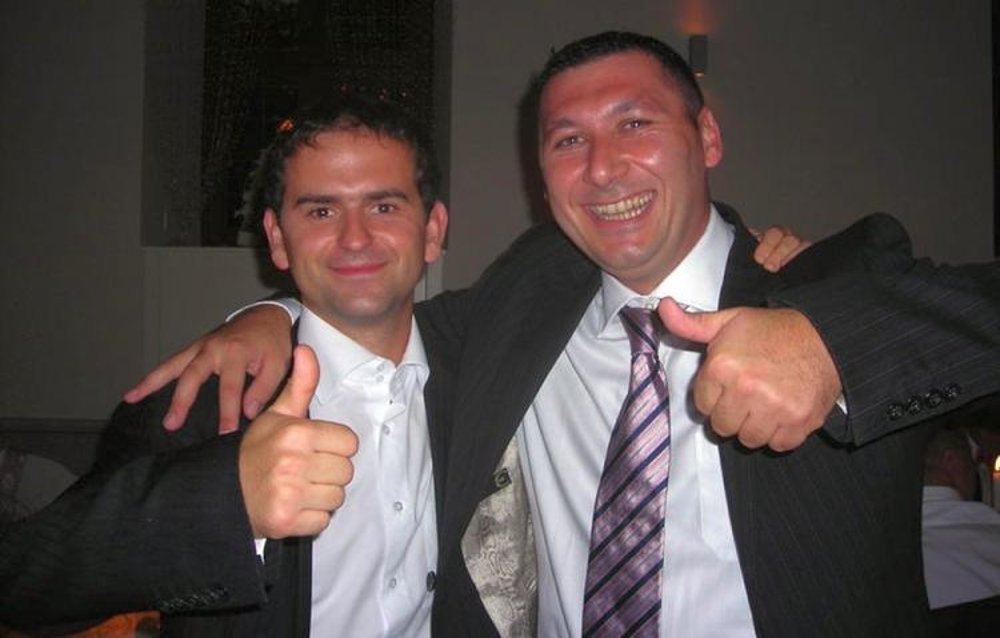 Róbert Madej (Smer;l) and Antonino Vadala (r)
