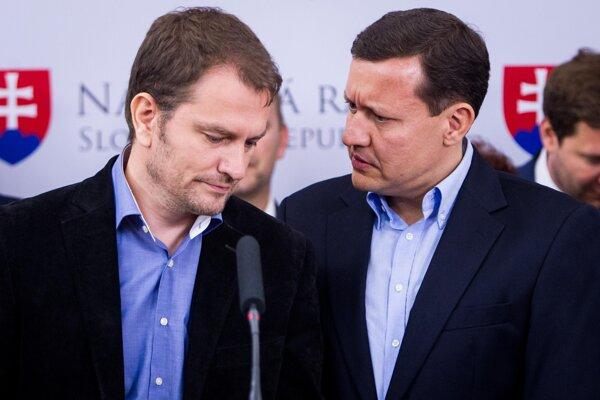 Igor Matovič (l) and Daniel Lipšic (r)
