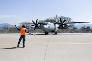 The second Spartan aircraft arriving in Slovakia.