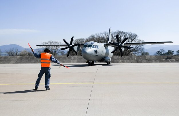 Slovakia sent its Spartan military aircraft to Afghanistan.