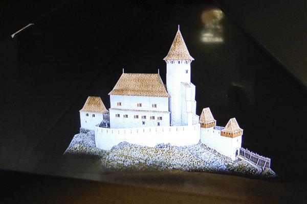 3D hologram of Ľubovňa Castle.