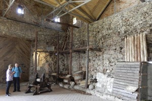 A new exhibition about how the castle was built.