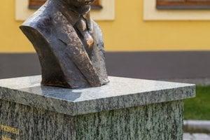 The bust of Woodrow Wilson in Bratislava