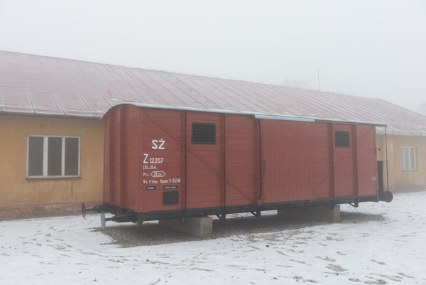 The railway carriage used to transport Jews to other camps
