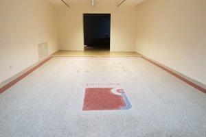 The original floor from sugar factory in Dunajská Streda