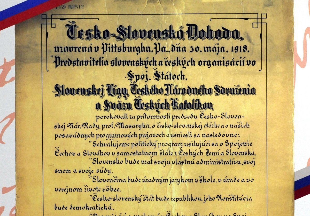 Pittsburgh Agreement Signed 100 Years Ago Czechoslovakia Anniversary