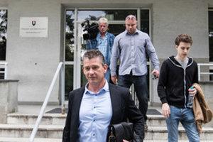 Roman Mikulec leaves the Bratislava court June 25.