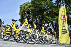 Bike-sharing stands in Bratislava