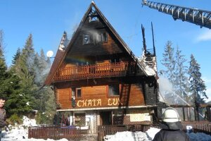 The lodge after fire