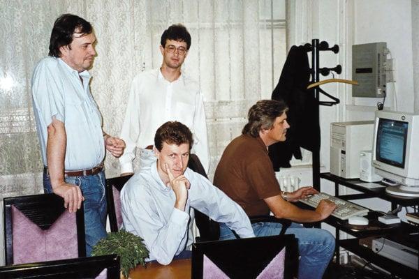 THREE ORIGINAL FOUNDERS OF THE ESET COMPANY: PETER PAŠKO, MIROSLAV TRNKA AND RUDOLF HRUBÝ.