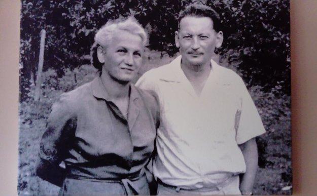 Anna Šestáková with her husband Ervín