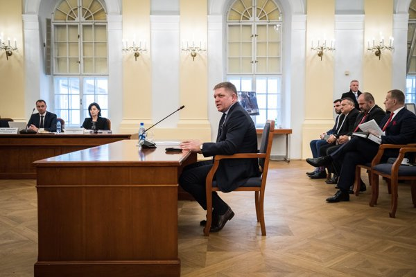 Robert Fico at the public hearing of candidates for the Constitutional Court judges.