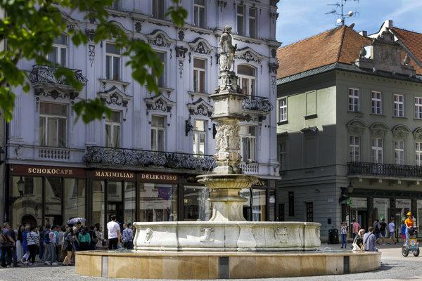 Maximilian Fountain in Bratislava