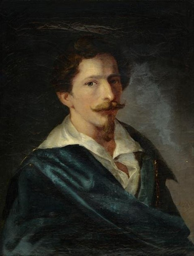 Ferdinand Karl Theodor Lütgendorff: Portrait of calligrapher Ferdinand Schmidt, 1836. Bratislava City Gallery