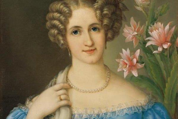 Jozef Gínovský: Portrait of a Young Lady in Blue Dress, 1826. SNG Bratislava