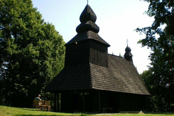 Wooden church in Ruská Bystrá.