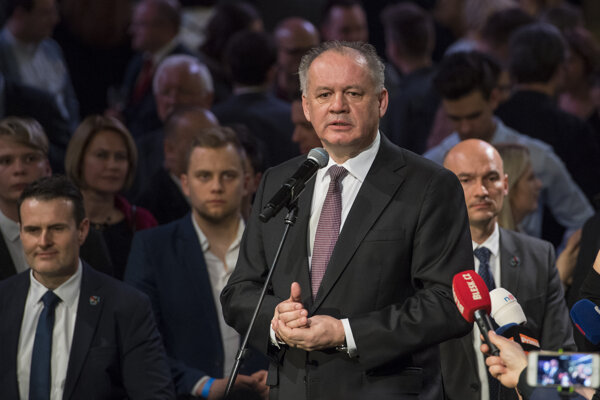 Andrej Kiska during election night
