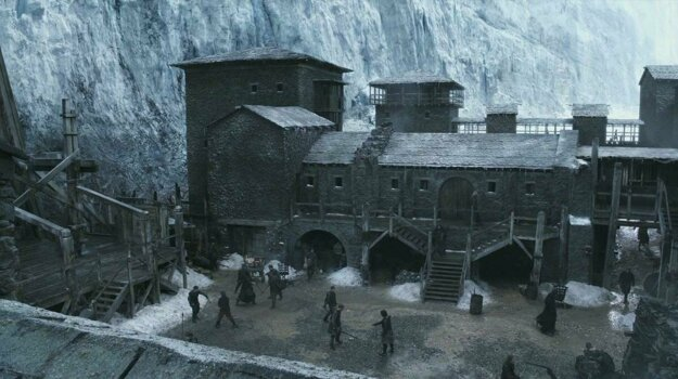 The backdrop to Castle Black and Hardhome