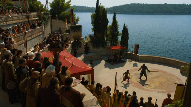 The arena at King's Landing