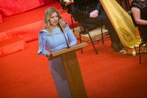Zuzana Čaputová gives her inauguration speech.