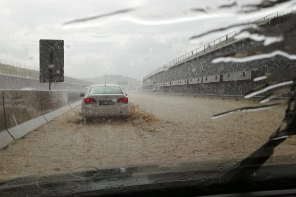 The D1 highway got flooded after a supercell hit Levoča in eastern Slovakia this June.