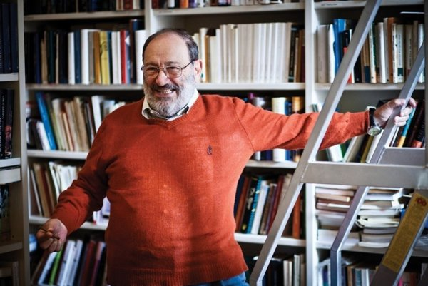 Umberto Eco, the Italian lover of comics, blasphemist, pamphletist, and author of a postmodern novel that raises its own reader.