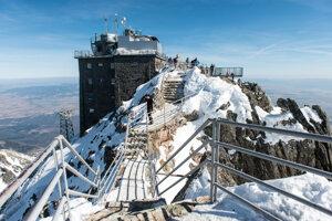 At the Lomnický Štít peak.