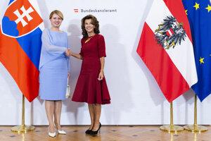 Slovak President Zuzana Čaputová met with Austrian Chancellor Brigitte Bierlein in Austria.