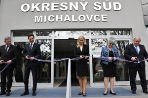 October 2017, opening the newly reconstructed building of the Michalovce District Court
