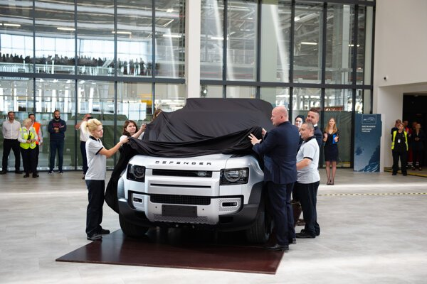 Jaguar Land Rover reveals the new Defender model, which will be produced in its Nitra plant, Slovakia.