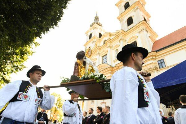 The national pilgrimage at the Šaštín Basilica