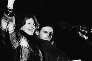 Milka Vasaryova and Milan Knazko