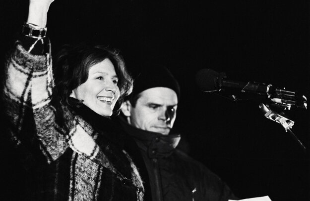 Milka Vášáryová and Milan Kňažko