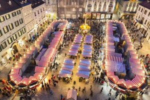 The Christmas market on Main Square.