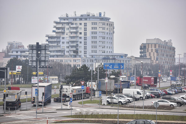 Trucks blocked the streets of Bratislava again on January 9.