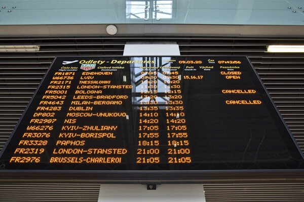 All flights from Bratislava to Italy have been cancelled.