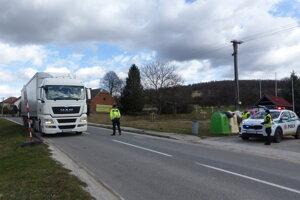 Border crossing in Vrbovce