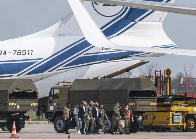 A plane from China delivered further medical material to Slovakia on March 13.