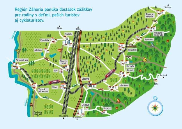 The 'Záhoráčik' railroad map.