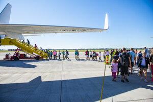 First charter flights left Bratislava.