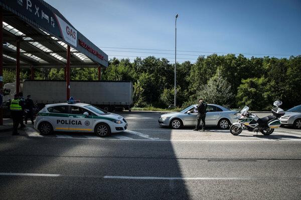 Entering Slovakia from the Czech Republic through the border crossing in Holíč, western Slovakia.