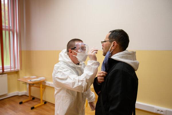 The testing in Dolný Kubín