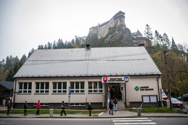Testing in Oravský Podzámok, under Oravský Hrad castle.