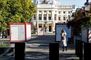 Mobile testing units were built in the Hviezdoslavovo Square in Bratislava.