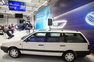 The very first VW Passat produced in the Bratislava VW plant in December 1991.