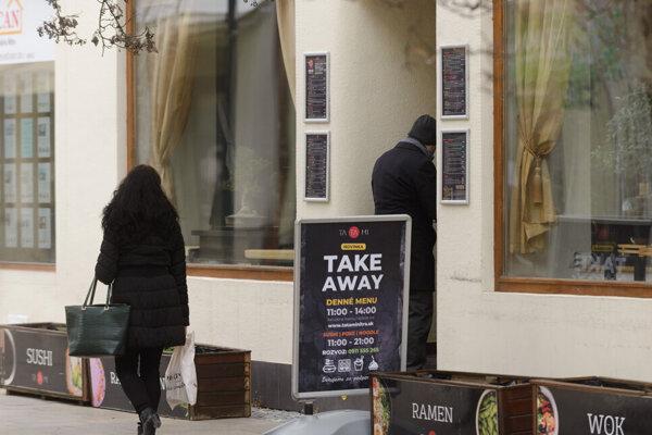 A restaurant providing takeaways in Nitra.