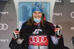 Petra Vlhová has become Snow Queen of Zagreb.