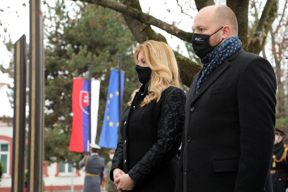 President Zuzana Čaputová and Defence Minister Jaroslav Naď