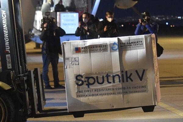 Sputnik V vaccines arrived at Košice airport on March 1, 2021