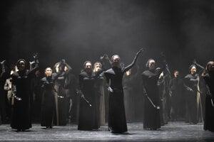 Rehearsal of Gaetano Donizetti's opera Roberto Devereux at the Košice State Theatre on April 20, 2021.